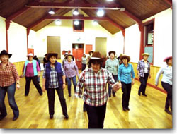 Line Dancing at the Alexandra Hall